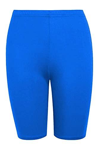 Zerox World Pantalones cortos de ciclismo para mujer, para baile, gimnasio, motero, pantalones calientes, leggings activos, informales, azul cobalto, 48-50