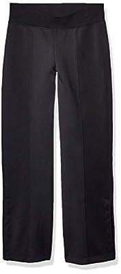 Betsey Johnson Women's Wide Leg Snap Track Pant, Black, Medium