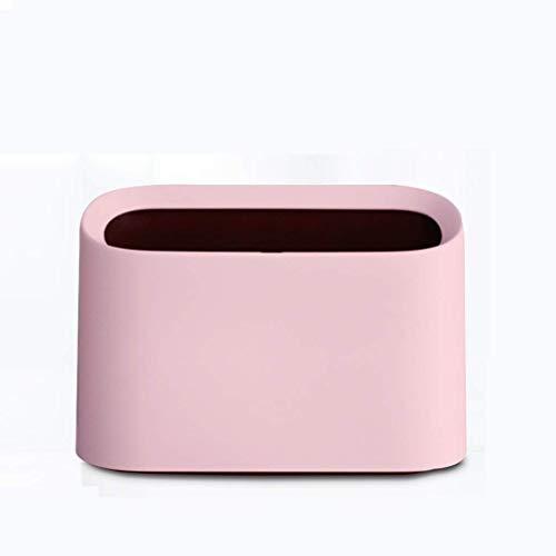 Prullenbak desktop mini papiermand zonder afdekking vierkant anti-drukbestendig tegen vallende hoeken gepolijst glad gebruik beschadigt de hand niet nette tafel salontafel thuis wonen roze