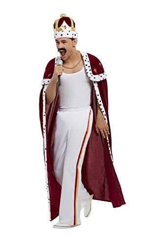 Smiffys 50938L Disfraz real de lujo con licencia oficial, para hombre, rojo, L - Talla 42-44 pulgadas