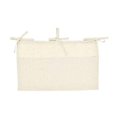 Bolsa colgante de almacenamiento, organizador de guardería de bebé lavable de lino, bolsa organizadora colgante de cama de cuna para dormitorio, cama de hospital