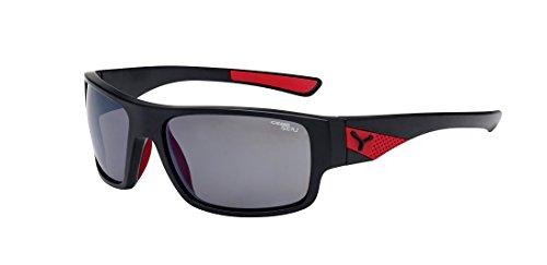 Cébé Cébé Whisper- Gafas de Sol, Hombre, Color Whisper Matt Black Red 1500 Grey Polarized AR FM, tamaño M