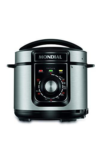 Panela de Pressão Elétrica Mondial, Pratic Cook 5L, 220V, Preto, 900W - PE-48-5L-I