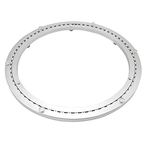 SHIJIANX Plato Giratorio para Mesa de TV, Plato Giratorio para Mesa de Comedor-Material de aleación de Aluminio con cojinete de Giro-Base-silenciador (10-40 Pulgadas)