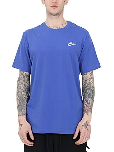 Nike T-Shirt, Blu-Bianco, S/M Unisex-Adulto