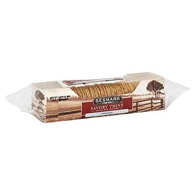 Sesmark Original All Natural Sesame & Rice Savory Thins Crackers 3.2 OZ (Pack of 4)