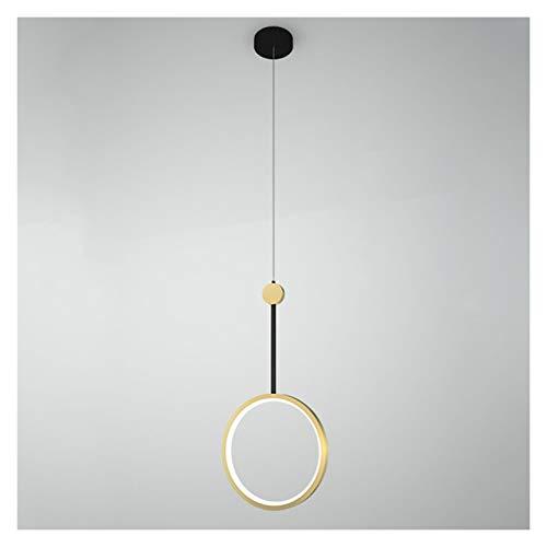 araña Z iluminación Nordic Sola Cabeza de la lámpara Simple Lujo Moderno Pasillo del Pasillo del Dormitorio de Noche Hotel Restaurant Bar lámpara LED Fashion (Color : Warm Light)