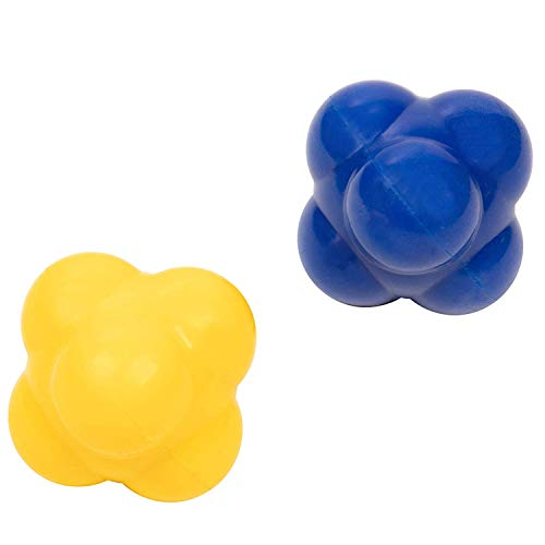 2Pcs Rubber Reaction Bounce Balls Reflex Speed Training Equipment Set for Agility Reflex and Coordination Training