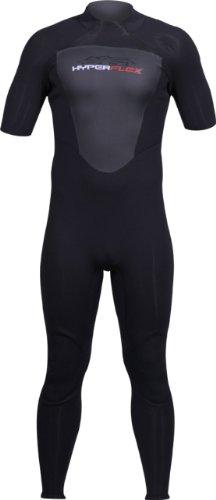 Hyperflex Wetsuits Cyclone22mm Manga Corta del Hombre Full Suit, Hombre, Negro