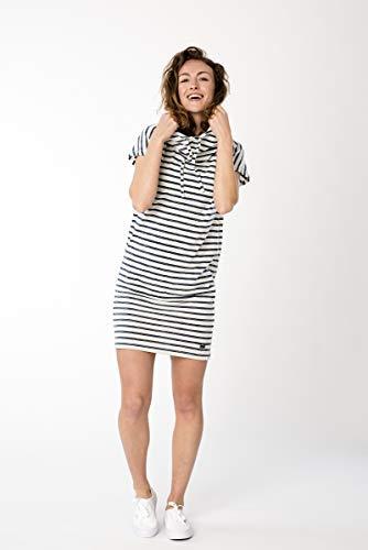 super.natural Robe sans Manches pour Femme XS Fine Stripe Print Fresh White