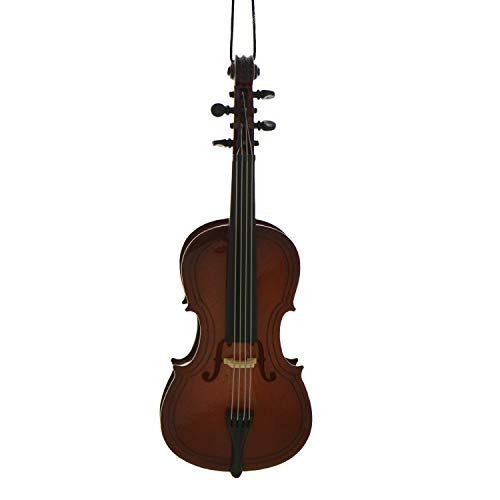 Personalized Cello Christmas Tree Ornament 2020 - Wooden Violoncello Music Instrument Steel String Cellist Player Recital Hobby Profession Teacher Miniature Broadway Gift Year - Free Customization