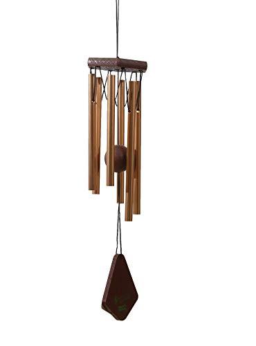 OSVINO Klangspiele Windspiele Aluminium mattiert klein Gesamtlänge 30,5cm/35,6cm für Garten draußen, Kupfer 35.6cm