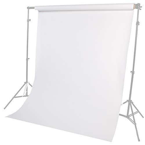 Fotostudio Papierhintergrund Haustier, Produkt, Porträtfotografie 1,35 m Breite 10 m Länge Weiß Lencarta
