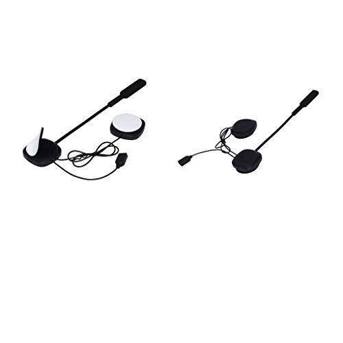 Shiwaki Bluetooth4.2 Casco De Motocicleta Intercomunicador Auriculares Auriculares Soft Earpiece X2