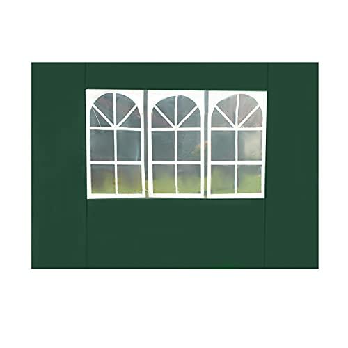 MT MALATEC Seitenwand für Pavillion Gartenpavillion Fenster Seitenteil 12912, Farbe:Grün