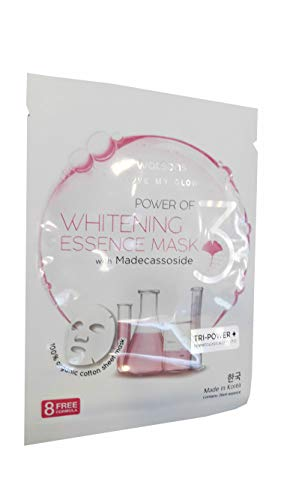 4 Mask Sheets of Watsons Whitening Essence Mask. 100% organic cotton sheet mask, Mild formulation, Dermatologically tested. (26 ml. essence/sheet)