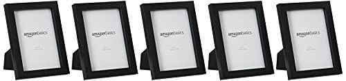 Amazon Basics AmazonBasics-Fotorahmen-13 x 18 cm, Schwarz, 5 Stück, 13 x 18 cm