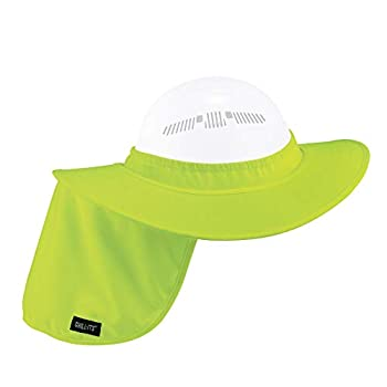Ergodyne Chill-Its 6660 Attachable Hard Hat Brim with Neck Shade Lime