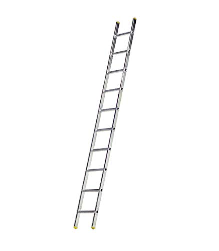 WOLFPACK LINEA PROFESIONAL 23020021 Escalera Aluminio 1 Tramo, 10 Peldaños. Antideslizante, Resistente