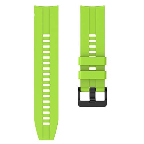 DAAGFC 22 mm Sport Silicone Wamkband para Huawei para Honor Magic Watch GT Banda de Pulsera de Correa Activa para Samsung Galaxy Watch 46mm Gear Gear S3 (Band Color : Green, Band Width : 22mm)