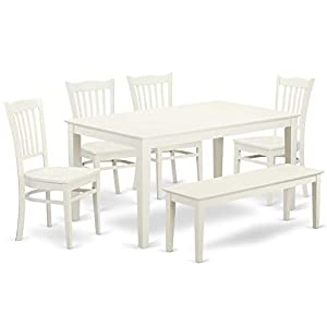 This Listing creates an incredible 6 Pc small kitchen table set for your exquisite dining area. This wooden dining table set provides 4 beautiful dining room chairs, a stylish small table and 1 attractive Dining Bench. Offer a beautiful look to your ...