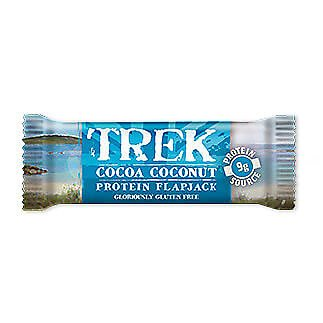 Cocoa Coconut - Trek Protein Flapjacks - Gluten & Wheat Free 50g (Pack of 6)