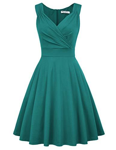 Petticoat Kleid elegant Swing Kleid Knielang cocktailkleider Retro Vintage Kleider CL698-11 M