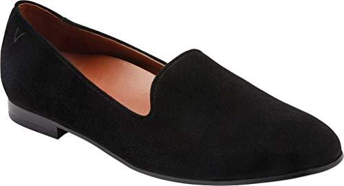 [バイオニック] シューズ 25.0 cm スリッポン・ローファー Women's Vionic Willa Flat Loafer Black Sued レディース [並行輸入品]