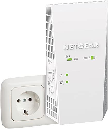 NETGEAR EX6250Mesh WLAN Repeater (AC1750 Dualband WLAN Verstärker, WiFi Extender Abdeckung 2 bis 3 Räume & 25 Geräte, bis 1750 MBit/s Geschwindigkeit, AP Modus, smartes WLAN-Roaming)