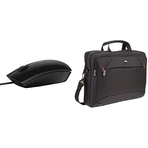 DELL 570-AAIR USB Mouse -Black & AmazonBasics 15.6-Inch Laptop and Tablet Case