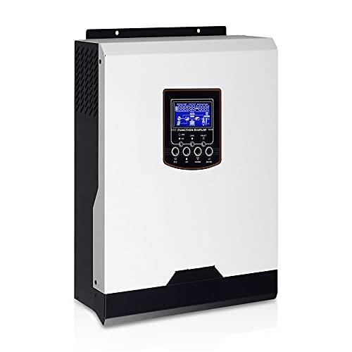 Micro Inverter Inversor Solar 1kw 1KVA 12V 220V Inversor híbrido de Onda sinusoidal Pura incorporada 50A PWM Controlador Solar Cargador de batería Grid Inverter (Color : 12Vdc 230Vac PWM)