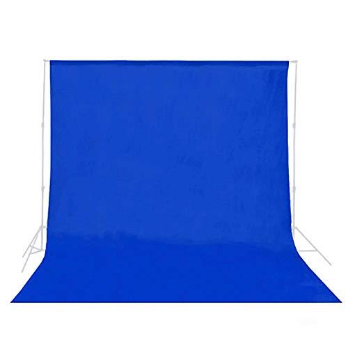 MUYUNXI Paño De Fondo Azul para Fotografía Fotográfica Usado para Fondo De Fotografía Mantel Cortina De Escenario Fiesta De Halloween Fiesta De Disfraces(Size:3 * 6m(9.8 * 19.6ft))
