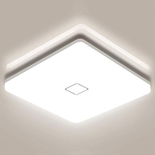 Airand LED Deckenleuchte 18W, Platz Deckenlampe Bad 1800LM 4000K Neutralweiß, IP44 Wasserdicht Flimmerfreie Deckenlampe für Badezimmer Küche Schlafzimmer Büro Balkon Flur Esszimmerusw