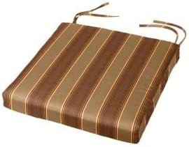 Chair Pad With Ties 19 X 18 X 2 Cushion Source Chair Cushion Indoor Outdoor Sunbrella Davidson Redwood 5606 0000 Kitchen Dining