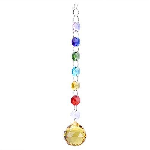 Starbun Lámpara de araña de Bola de Prisma de Cristal Colgante Hecha...