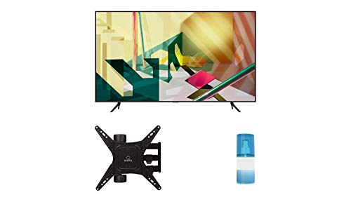 Samsung QN55Q70TA 55' 4K Ultra High Definition Dual LED QLED TV with a Walts TV Medium Full Motion Mount for 32'-65' Compatible TV's and Walts HDTV Screen Cleaner Kit (2020)