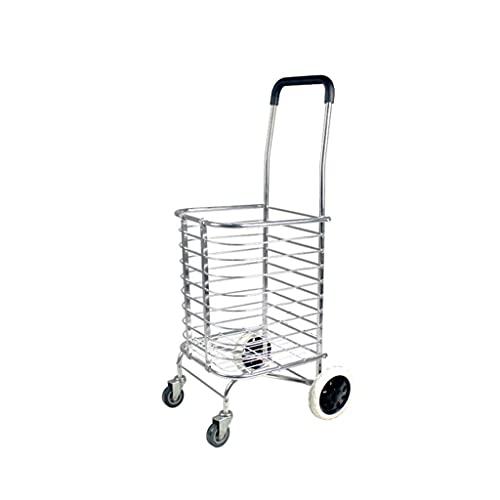 FGVDJ Tragbare Nutzfahrzeuge können die Treppe hinaufsteigen. Einkaufswagen Klappbarer Handwagen Einkaufswagen Home Pull Trailer Leichter Einkaufswagen