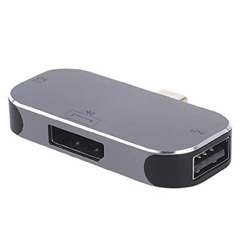 Alta eficiencia USB-C/Tipo-C a DP/USB2.0 convertidor de puerto de pantalla con 100W puerto de carga ordenador Tablet adaptador Accesorios de computadora