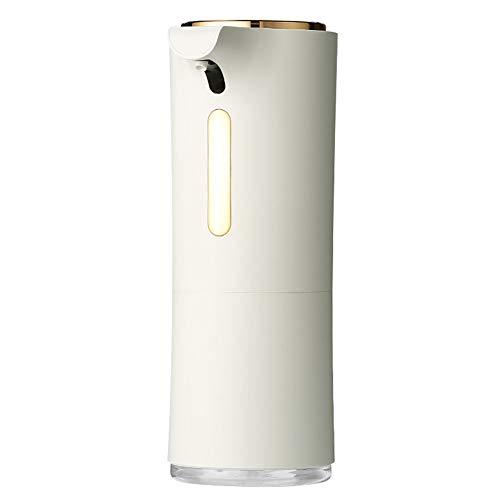 Dispensador de jabón Automático, Dispensador Gel hidroalcoholico con Ventanas Visibles y Base de Acero Inoxidable, Dosificador Sensor para cocinas baños
