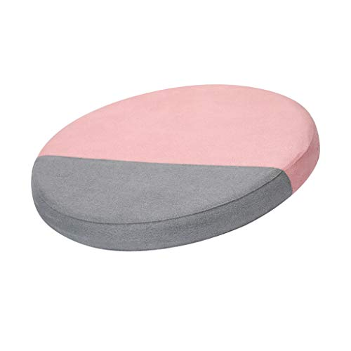 Fine Portable Foam Cushion, Office Chair Cushion Car Seat Cushion, Orthopedic Pain Relief Breathable, Washable, Removable Fabric with Zipper (Pink)