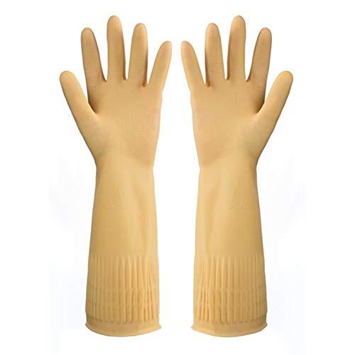CAILIN Handschuhe & Fäustlinge 5 Paar Handschuhe Reinigung Kuechenwaschmaschinen Handschuhe, Wiederverwendbare Haushaltshandschuhe strickhandschuhe (Color : Yellow, Size : 3-3.1in)