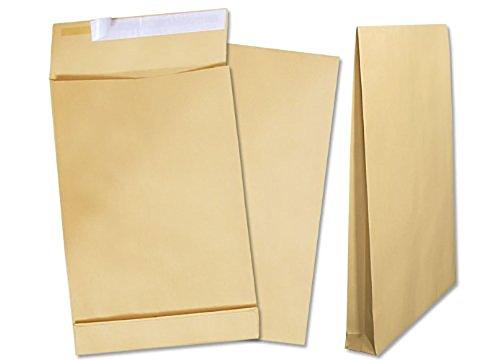 Deutsche Post Briefumschläge 25 Versandbeutel B4 braun haftklebend ohne Fenster / br. hk oF.