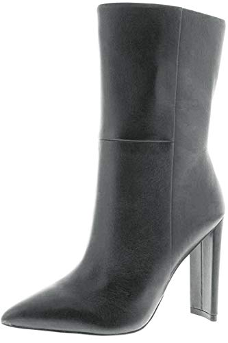 ALDO Womens Schuler Pointed Toe Mid-Calf Fashion Boots, Black Leather, Size 7.5