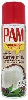 PAM Aceite Comestible en Aerosol Puro de Coco; Coconut Oil, Antiadherente 141 g (Presentación puede variar)