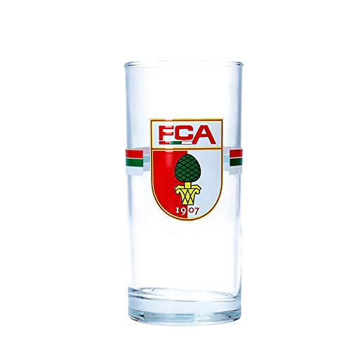 FC Augsburg Wappen Trinkglas 0,3l Rot Grün Weiss