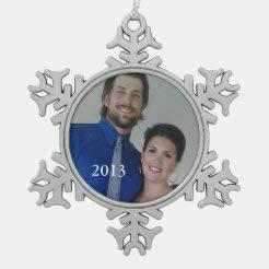 McC538arthy Snowflake Metal Ornaments for Couple Personalized Photo Retro Garland Couple's Photo Couple Married Keepsake Wedding Ornament Newlywed Christmas Ornaments Newlywed Wedding Gift 3''