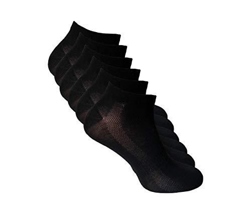 HOLY 6 Paar Bambus Socken für Herren und Damen, Sport und Freizeit, Antibakteriell, Atmungsaktiv & Superweich (Schwarz, 6),41/44