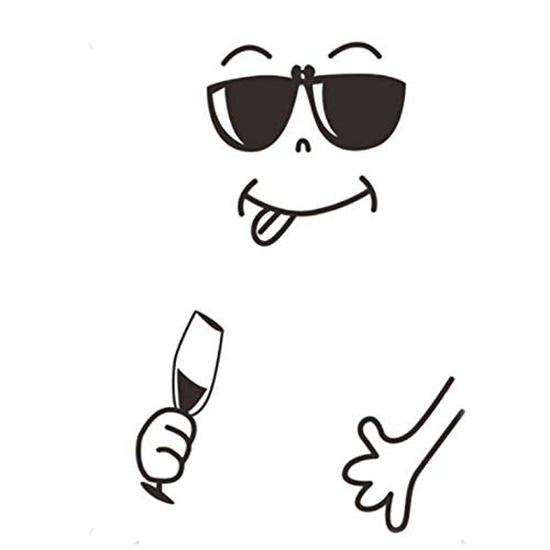N/V Kühlschrank Aufkleber Romantische Smiley Cartoon Form Kühlschrank Magnetischer Kühlschrank Aufkleber Dekoration A/B/C/D.