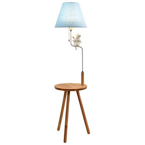 Duoer staande lampen, staande lampen, Nordic houten vloerlamp, creatieve slaapkamer, bedlamp, eenvoudige standaard lamp met drie poten, salontafel, staande lamp woonkamer