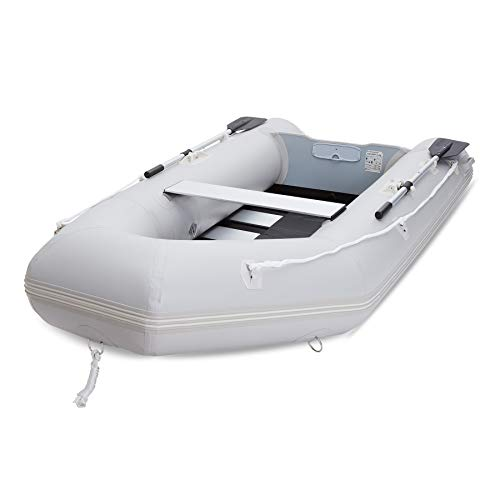CO-Z 10' Inflatable Kayak for Adults, Portable Boat Raft for 4 Person Water Touring, Foldable Dinghy Float for Boating Fishing Hunting or Playing on Lakes Rivers and White Water Rapids